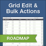 Caspio Roadmap: Grid Editing, Bulk Actions and More